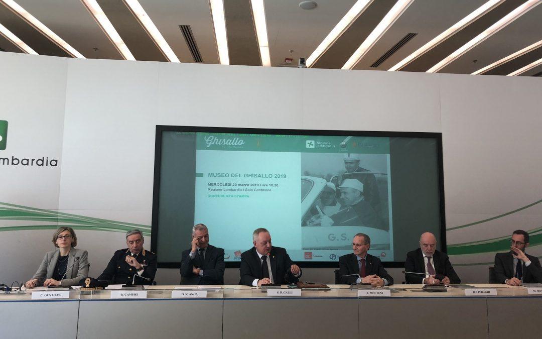 PRESENTATO IN REGIONE LOMBARDIA PROGRAMMA EVENTI 2019 MUSEO DEL GHISALLO